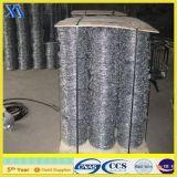 Arame farpado com base simples galvanizada