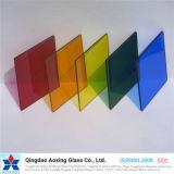 Vidrio de flotador del color para el vidrio de la pared/el vidrio de la partición de cristal/del edificio