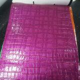 Cuir coloré de crocodile de PVC pour des sacs