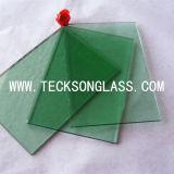 4-6mm 진한 녹색 색을 칠한 플로트 유리