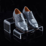 Crémaillère d'étalage acrylique transparente personnalisée par usine de chaussures ou de sacs à main