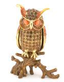 Boîte de bijoux de hibou, boîte de bijoux de décoration, boîte de bijoux d'alliage (146)
