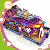 Kind-Innenspielplatz-Geräten-Fiberglas-Plättchen und Regenbogen-Netz