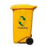 balde do lixo de borracha da roda do escaninho 240L ao ar livre plástico para ao ar livre