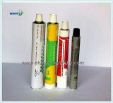 Tubo plegable de aluminio vacío de etiquetado poner crema de piel del empaquetado farmacéutico de la mano cosmética del cuidado