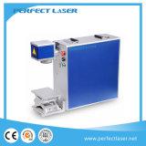 iPhone PVC anillo 20W 30W metal Plastis caja de la fibra láser Máquina de la marca