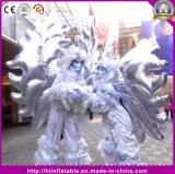 ベニスの謝肉祭はFantasicクラブ夜棒党衣裳の膨脹可能な銀製の角度の翼を着せる