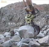 O giro hidráulico da máquina escavadora luta a garra de giro da máquina escavadora de madeira luta a pedra