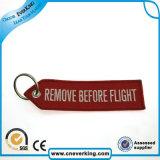 주문을 받아서 만드는 제거하십시오의 앞에 비행 자수 Keychain (중요한 꼬리표)