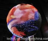 Visualización curvada/redonda de interior P7.62 de LED, tarjeta de la pantalla de visualización de LED de 360 grados