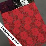 Tessuto comodo del merletto di disegno variopinto del fiore