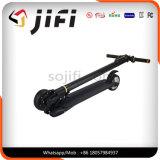 2つの車輪のスマートな電気スクーター、スケートのボード、ハンドルが付いている蹴りのボードのバランスをとっている自己