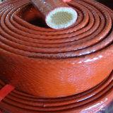 Butoir hydraulique de boyau de fibre de verre enduite de silicone résistante au feu calorifuge