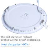 6W adelgazan la iluminación casera redonda ultrafina de las lámparas AC85-265V del techo de la lámpara de la luz del panel del LED AC85-265V Downlight