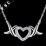 De in het groot Halsband van de Tegenhanger van het Hart van de Juwelen van de Crematie Zilver Geplateerde voor Meisje