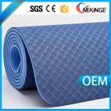Estera de la yoga de la TPE de las capas dobles del equipo de Pilates