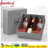 Kundenspezifisches Druck-haltbares Vierecks-Papierkasten für Wein mit dem heißen Stempeln