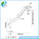 Jeo 180 canalisation verticale réglable de moniteur de bride de bureau de vente d'émerillon de degré de la hauteur chaude Ds312g de prix usine