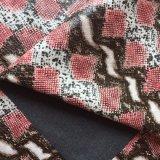 Cuir synthétique PU Serpent pour le tissu Grament Hx-G1704