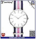 La correa de nylon 2016 de la OTAN de Yxl-493 Ginebra mira a señora Wristwatch del deporte de los pares del cuarzo del diseño simple de la manera de la muñeca