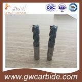 Revestimento Nano azul contínuo das flautas HRC60 de Endmill 4 do carboneto