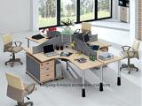 Stazione di lavoro di legno del personale dell'impiegato del gruppo di terminali del divisorio dell'ufficio del MDF (HX-NCD051)