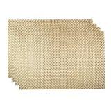 8X8 dourado Placemat tecido PVC para o Tabletop