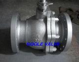 Válvula de esfera flangeada da flutuação do aço de molde de 2 PCS (Q41F)