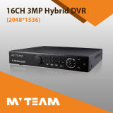 5-in-1 for Hybrid DVR Sale 3MP 16 Chanel HD DVR Support 4PCS HDD (62B16H300)