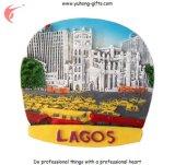 Aimants de réfrigérateur de Polyresin de résine de souvenir de tourisme de Lagos (YH-FM091)