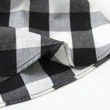Soem-Zubehör-Schwarz-weiße Plaid MIDI-Rüsche-Fußleiste für Frauen