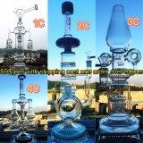 De in het groot Waterpijp van het Glas van de Beker van de Vervaardiging van de Pijp van het Glas van de Recycleermachines van de Installatie van de SCHAR van de Olie Rokende in Voorraad