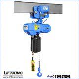 Alzamiento de cadena LIFTKING 1t Dual Speed eléctrico con la carretilla eléctrica