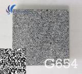 Подгонянный G654 естественный гранит черноты сезама