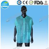 Preiswerter Preis-nichtgewebte Polypropylen-Labormäntel, schützendes Kittel-Kleid, medizinische Wegwerfmäntel