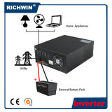 inversor de alta freqüência da potência 1.2kVA~2.4kVA para o PC e o aparelho electrodoméstico, com bateria externa