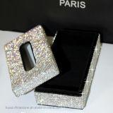 Diamante caja de cristal de tejido de cristal caja de tejido creativo caja de la servilleta de coche (TBB-003)