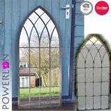 Espejo de madera arqueado estilo de la pared de la ventana del obturador de la vendimia de Ecorative