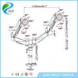 Prix usine chaud de vente de Jeo 180 canalisation verticale réglable de moniteur de bride de bureau de Ys- Ds324G de hauteur d'émerillon de degré