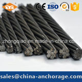 China de PT de acero trenzado PC Strand