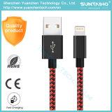 Cabo do USB da tela de nylon o micro trançou o cabo do USB de 3 polegadas