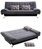 ソファ家具:二つ折りファブリックソファベッド(2139)