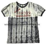 Maglietta del cotone per il ragazzo con la tintura del legame