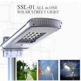 3m 10W IP65 Integrated Solar LED Street Light para estacionamento