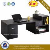 Mesa branca do computador da mobília de escritório do projeto simples com biblioteca (HX-N0117)