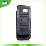 Cas de téléphone mobile de l'hybride TPU+PC Kickstand, pour la caisse de téléphone de Samsung, pour le cas de bord de Samsung S7