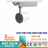Projecteur en aluminium blanc/noir de piste de l'ÉPI DEL de CREE de boîtier