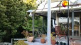 Неразъемный солнечный уличный свет сада с регулируемой панелью солнечных батарей 360