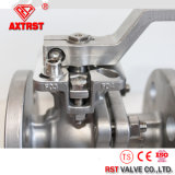 API6d Full Bore PTFE 2PC Válvula de bola de brida con soporte de montaje directo
