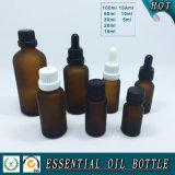 Brown a givré la bouteille en verre d'huile essentielle